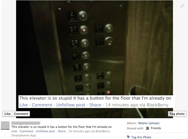 Facebook Aufzug