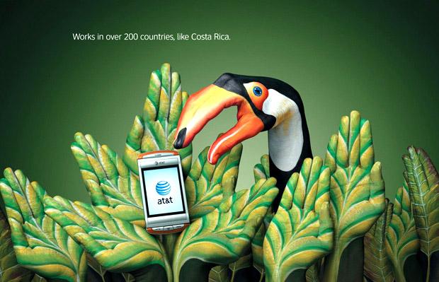 AT&T Kampagne mit Handbemalung von Guido Daniele