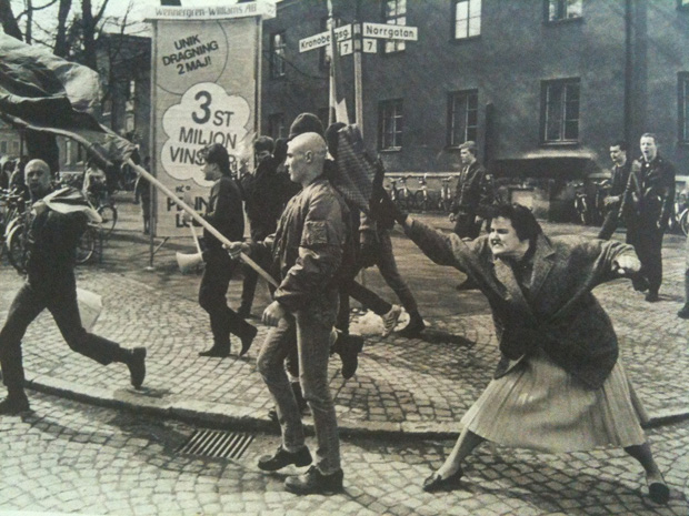 växjö 1985 auseinandersetzung neo-nazis skinheads