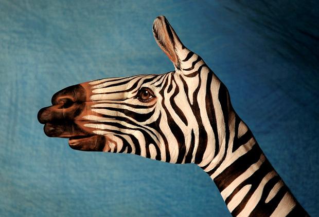 Handpainting Zebra Guido Daniele