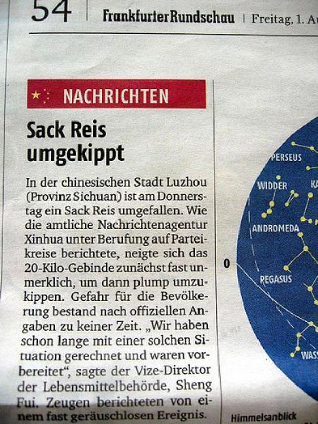 Sack-reis-umgekippt
