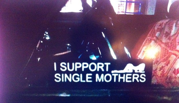 "Autoaufkleber ""I support single mothers"""