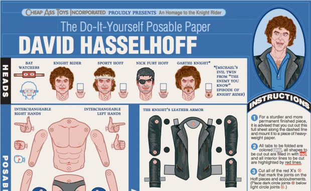 David Hasselhoff zum selber Basteln Knight Rider Tribute