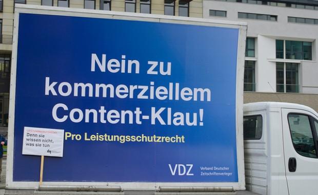 Nein zu kommerziellem Content-Klau - Pro Leistungsschutzrecht