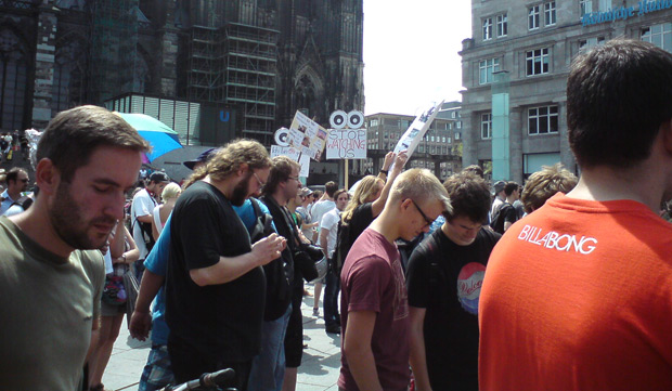 #StopWatchingUs Demo in Köln
