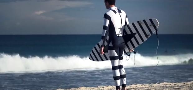 hai abschreckender neoprenanzug und surfbrett-sticker von radiator