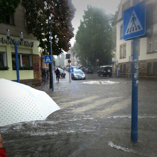 wilhelm geiger platz stuttgart feuerbach Überschwemmung