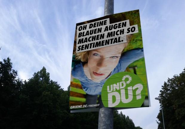 Wahlplakat Bündis90/Die Grünen zur Bundestagswahl 2013 - Ich seh das anders