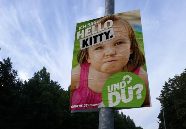 Wahlplakat Bündis90/Die Grünen zur Bundestagswahl 2013 - Hello Kita