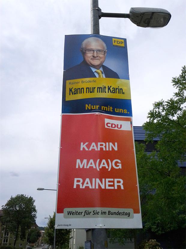Rainer Brüderle kann nur mit Karin Maag und Karin Ma(a)g Rainer auch sehr gern