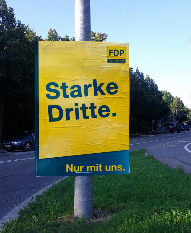 Wahlplakat FDP zur Bundestagswahl 2013 - Starke Mitte