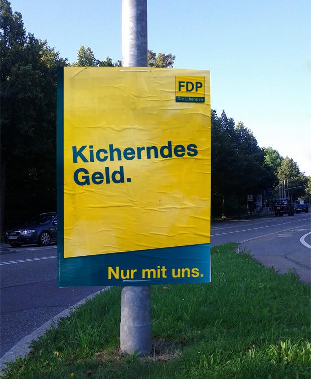 Wahlplakat FDP zur Bundestagswahl 2013 - Sicheres Geld