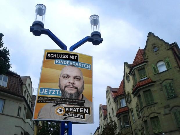 piratenpartei adbusting schluss mit kindergarten bundestagswahl 2013 wahlkampf