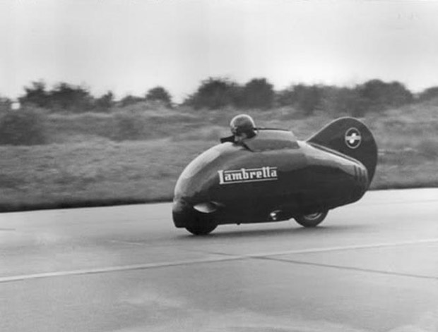 Lambretta Innocenti the red bullet 1951 speed record