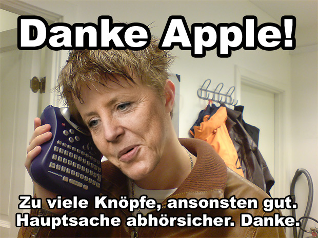 Angela Merkels neues Handy
