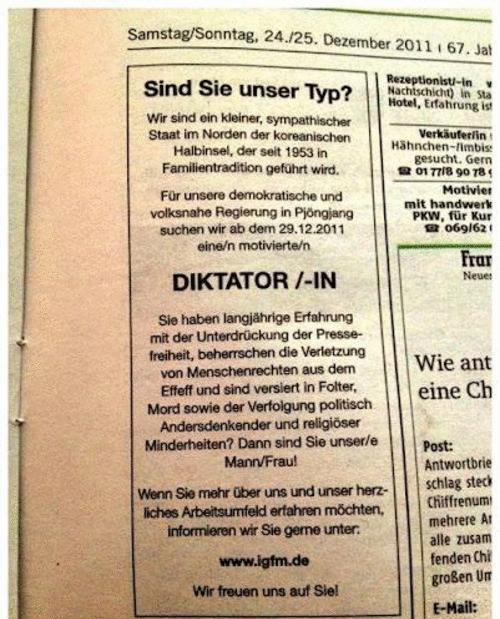 diktator diktatorin gesucht