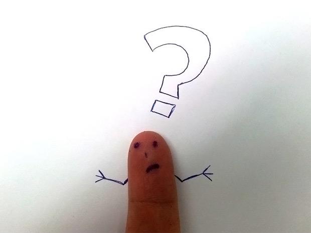 Finger Fragezeichen