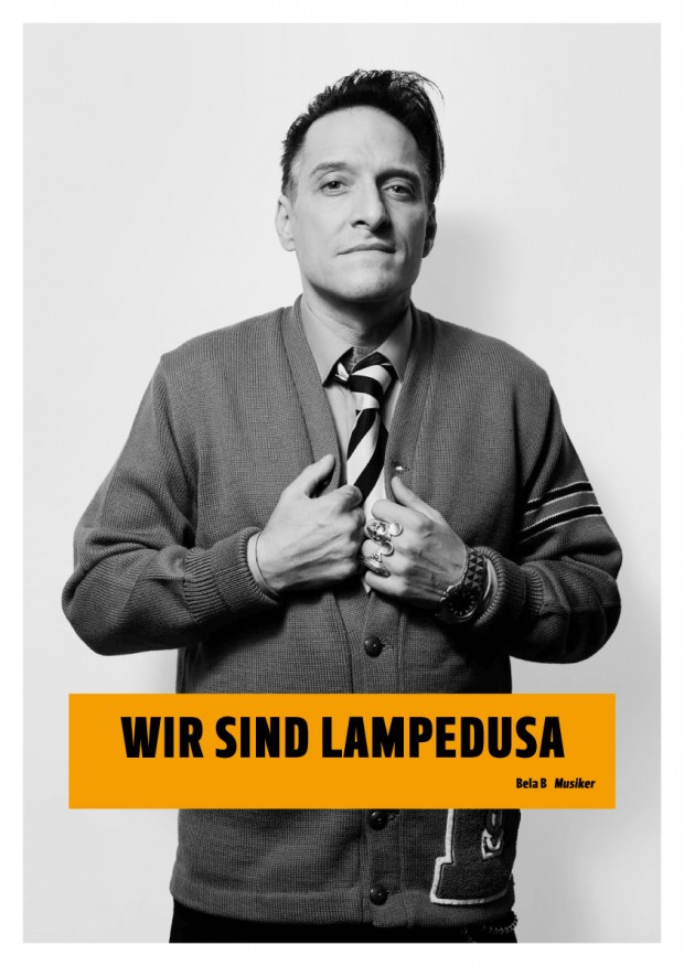 Wir sind Lampedusa Plakat Bela B