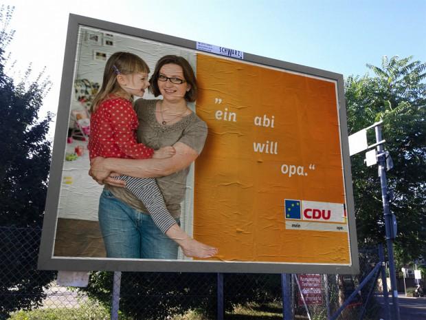 CDU Plakat europawahl 2014 - ein abi will opa