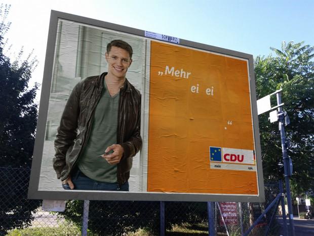 CDU Plakat europawahl 2014 - mehr ei ei