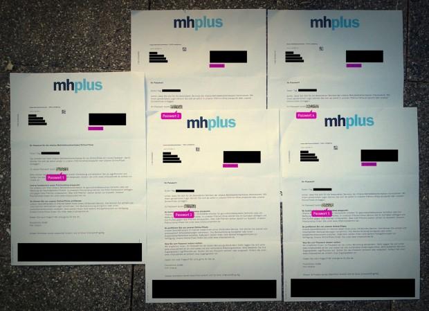 mhplus passwort vergessen und per brief zusenden lassen