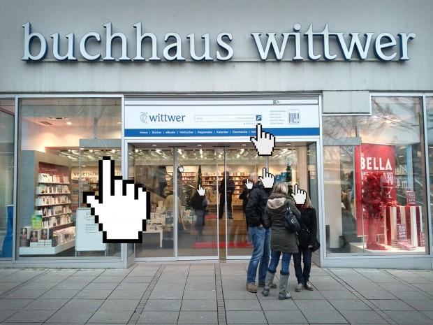 Buchhandlung Wittwer in Stuttgart verbindet Online-Shopping und realem Ladengeschäfte