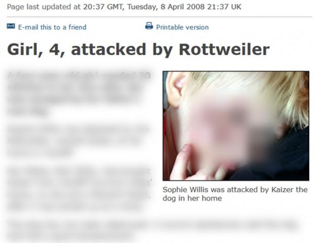Screenshot des Fotos vom BBC Original-Artikel aus dem Jahr 2008