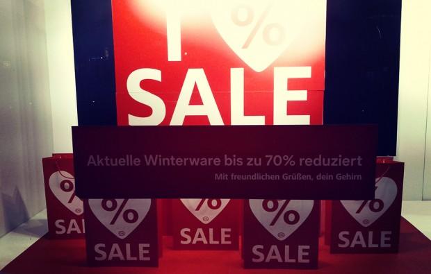 winterschlussverkauf reduzierte ware gehirn