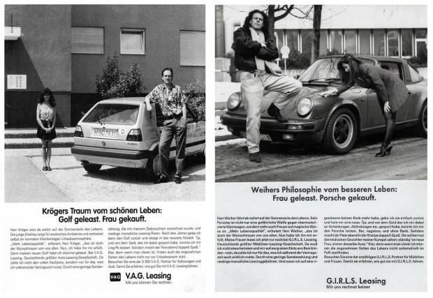 Frau gekauft Golf geleast Titanic Werbung Porsche Frau geleast Porsche gekauft