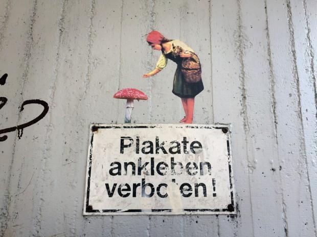 plakate ankleben verboten rotkäppchen