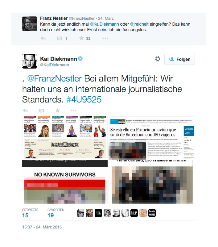 bild kai diekmann germanwings absturz twitter
