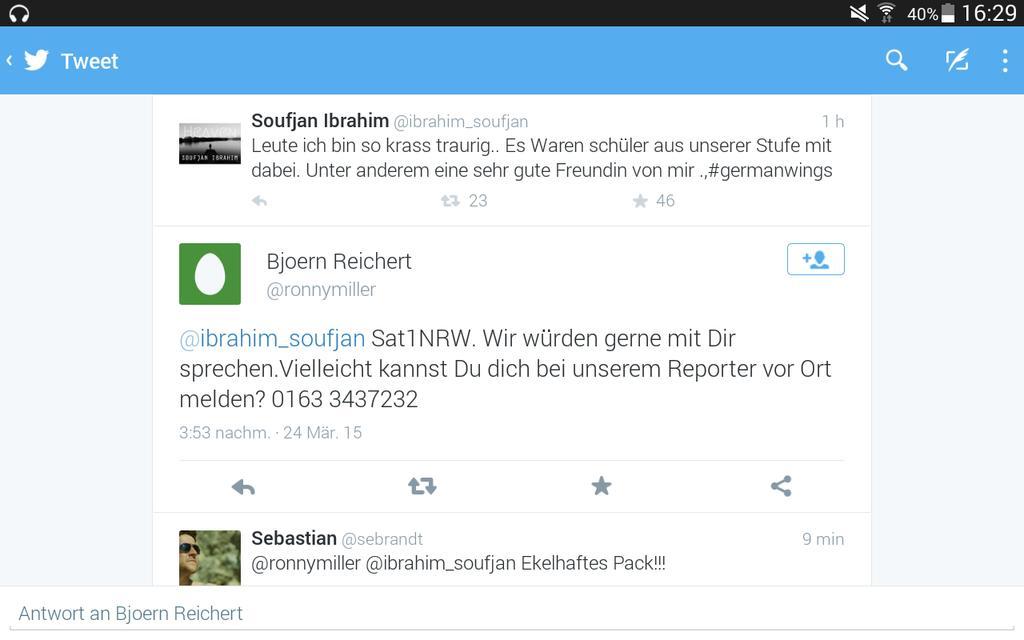 twitter screenshot medien_flugzeugabsturz germanswings