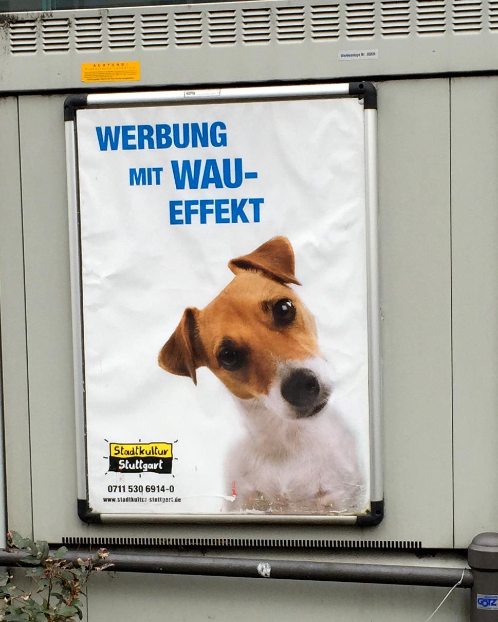 Stadtkultur Stuttgart Werbung mit Wau Effekt