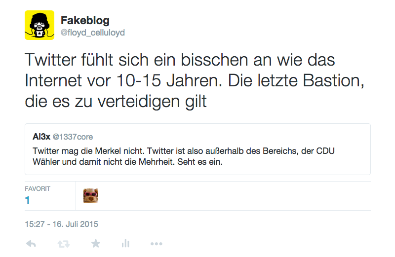 Twitter das linke Internet