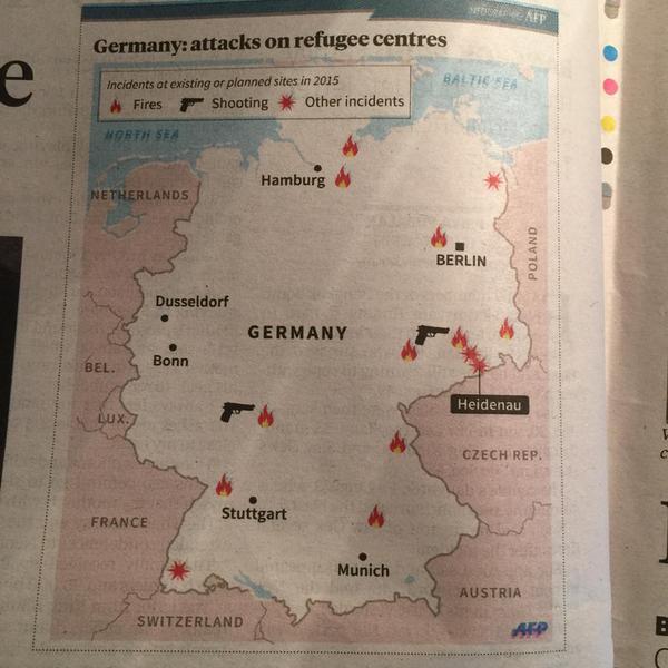 Malaysische Zeitung über Angriffe auf Flüchtlingsunterkünfte in Deutschland
