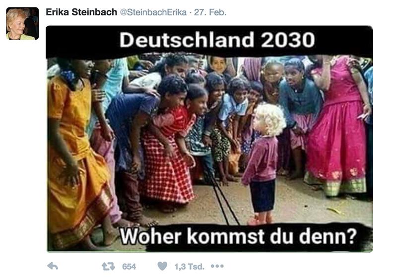 steinbach erika geschmacklos twitter tweet