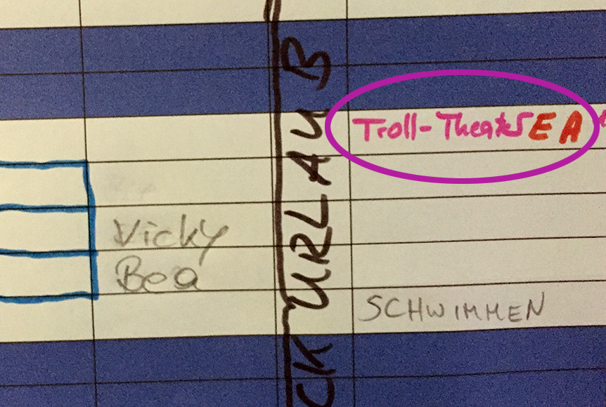 Troll Theater im Kindergarten