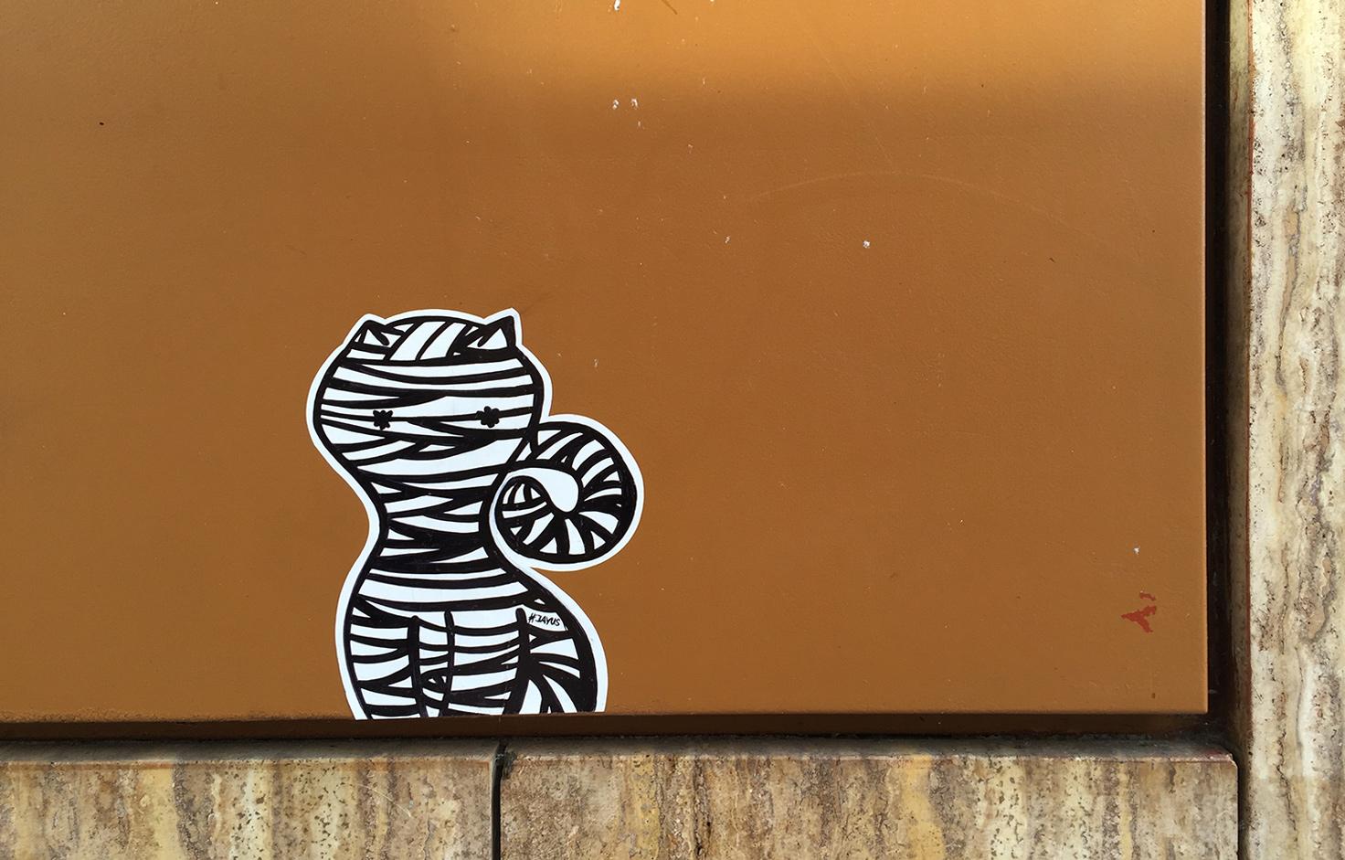 katze streetart sticker jayus stuttgart