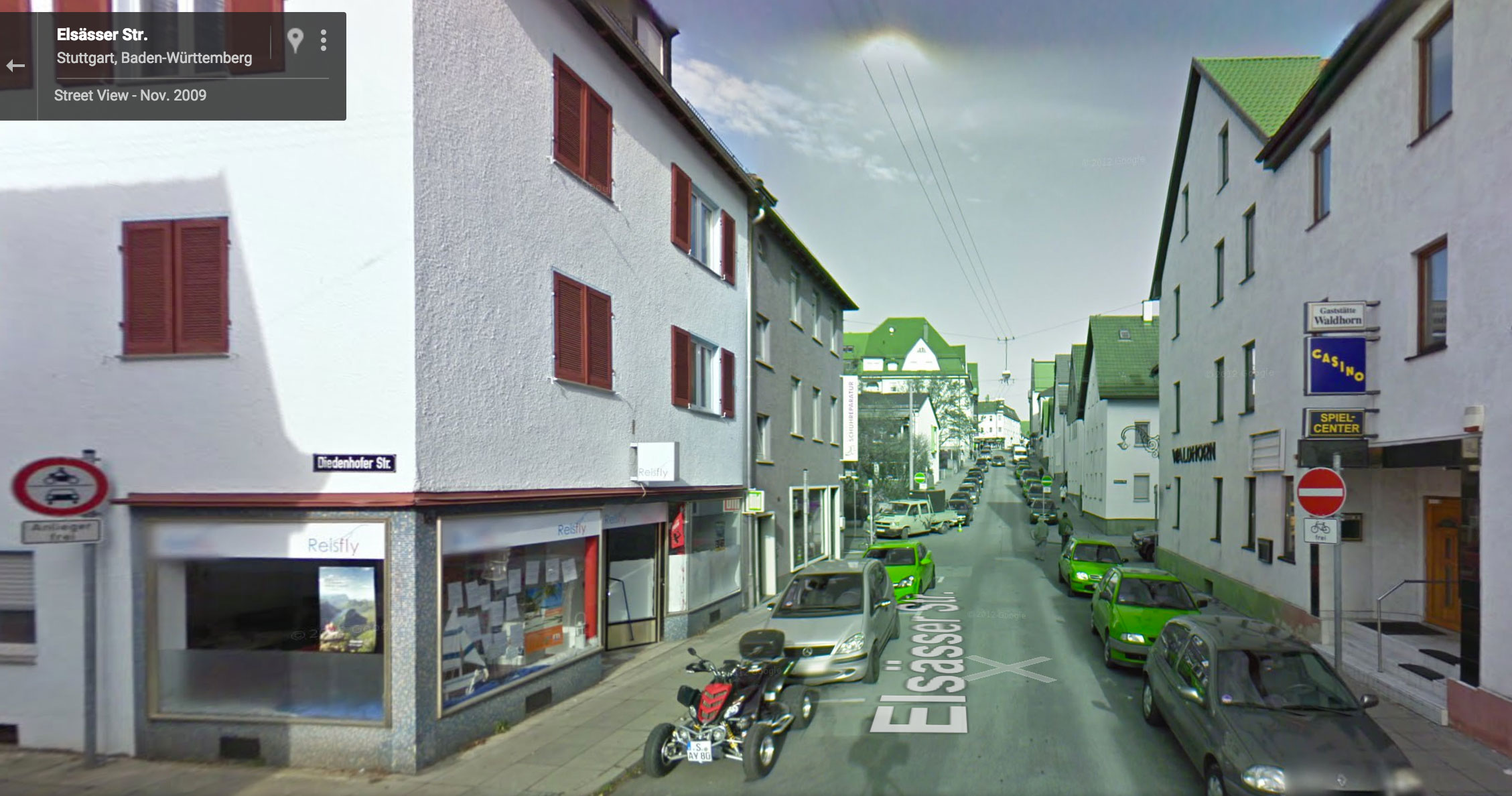 google streetview rot grün stuttgart