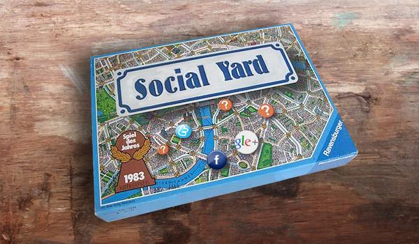Social Yard mit Facebook Google+ und Twitter
