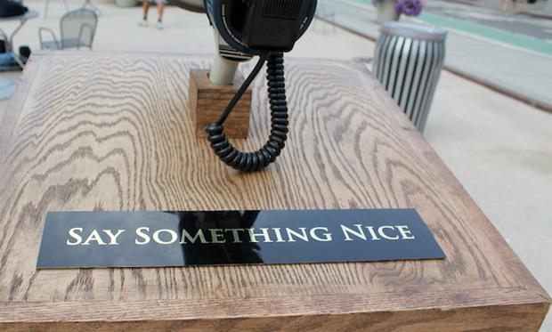 say something nice - improv everywhere