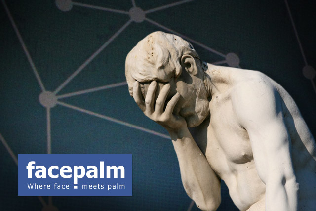 facepalm where face meets palm