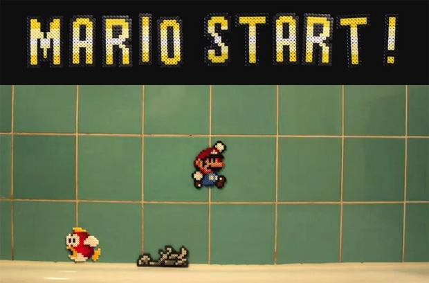 Super Mario beads Stop motion Animation von Marcus und Hannes Knutsson