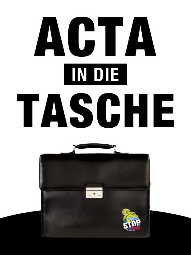 Demo Plakate für ACTA Demo am 12.02.2012 - Actatasche