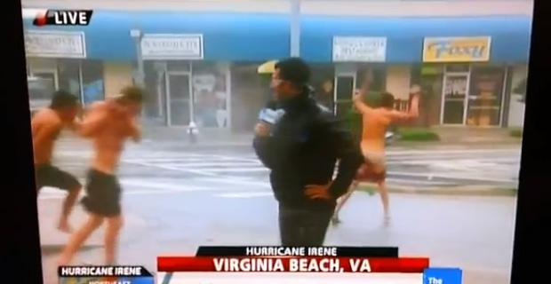 Hurricane Meldung mit seltsamen Menschen im Video