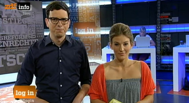 ZDF log in Sendung: der Gesichtsausdruck der Moderatoren passt zu meinem Eindruck von Manfred Spitzer