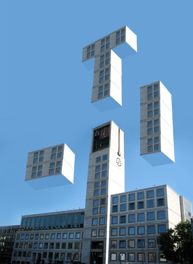 Tetris Stuttgarter Rathaus - Fritz Kuhn zieht ins Rathaus ein