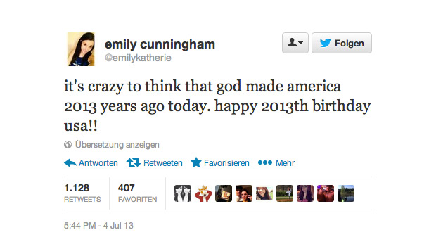 tweet happy 2013th birthday america