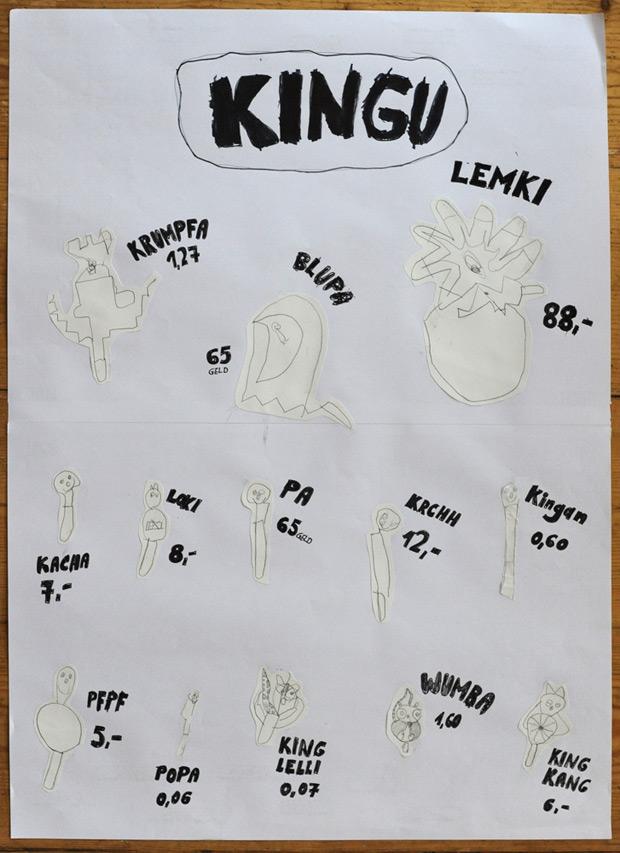 Eiskarte von Kind 1 und Kind 2