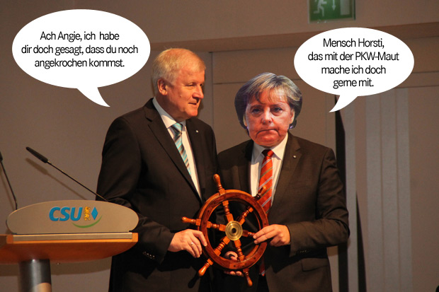 Horst Seehofer Angela Merkel PKW Maut Bundestagswahl 2013 CDU